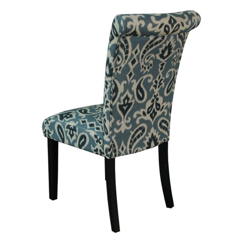 Monsoon pacific voyage upholstered dining chairs blue for Printed upholstered dining chairs