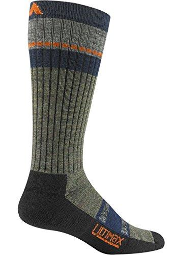 Pikes Peak Wigwam-Pro, da uomo, calzini, colore: verde oliva, taglia L, misura UK 8-11,5