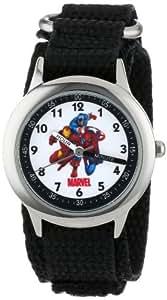 "Marvel Kids' W000145 ""Time Teacher"" Captain America, Tony Stark & Spider-Man Stainless Steel Watch"
