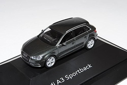 Audi-A3-8V-Sportback-Daytona-Grau-5-Trer-Ab-2012-H0-187-Herpa-Modell-Auto