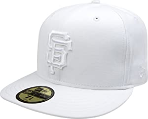 MLB San Francisco Giants White on White 59FIFTY Fitted Cap by New Era