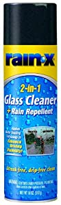 Rain-X 5080233 2-In-1 Glass Cleaner Plus Rain Repellent Aerosol Foam by Rain-X