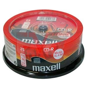 25 Maxell CD-R Digital Audio Musik Rohlinge XL-II Music