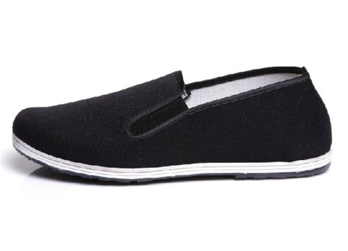 UNOW Chinese Traditional Cloth Kung Fu Shoes,Black,46 | (US:Men 11 | Women 12.5) (Cloth Ninja Shoes compare prices)