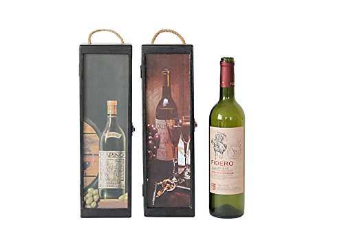 Attraction Design 2-Assorted Wood Grassroots 1-Bottle Wine Box