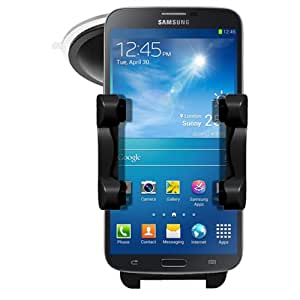 Samsung Galaxy Mega 6.3 i9200 In Car Phone Holder Windscreen Mount Rotating Cradle - Mobile Accessories By Sunwire®