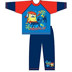 Childrens/Kids Spongebob Squarepants Long Sleeve Top & Bottoms/Trouser Pyjama Set