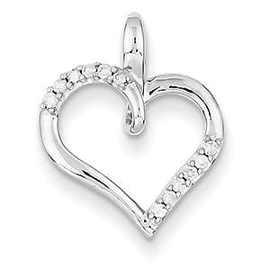 IceCarats Designer Jewelry 14K Wg Diamond Heart Pendant