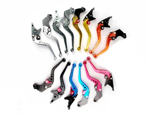High quality CNC 6 Position Shorty Brake Clutch Lever for Kawasaki GTR1400 / CONCOURS 14 2007 2008 2009 2010 Color- Black Red Gold Silver Blue Orange Green