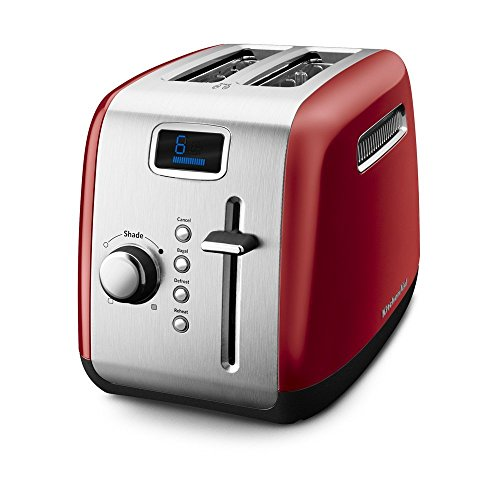 KitchenAid KMT222ER 2-Slice Toaster with Manual High-Lift Lever and Digital Display - Empire Red (Kitchenaid Digital Toaster Oven compare prices)