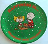 NEW PEANUTS CHARLIE BROWN & SALLY HAPPINESS IS SHARING HOLIDAY CHRISTMAS PLATE