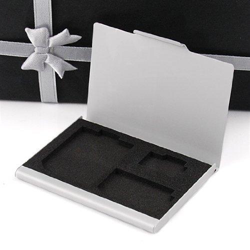 Fashion Designer Anti-shock 3 Slots SD SDHC MINI MicroSD T-FLASH Card Holder Aluminum Storage Case