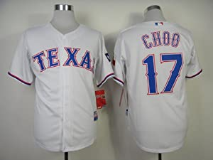 Texas Rangers 17 Shin-Soo Choo Coolbase Jersey (Red, White) (White, 48 M) by Baseball