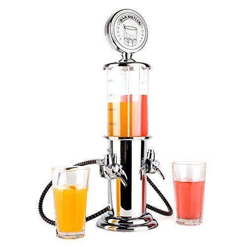 oneConcept Hazzlehov Distributeur de boisson double 2x450ml