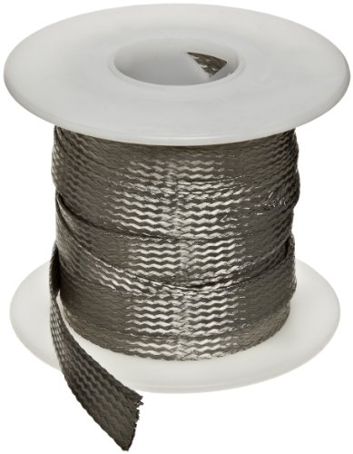 "Flat Tinned Copper Braid, Bright, 1/4"" Width, 25' Length (Pack Of 1)"