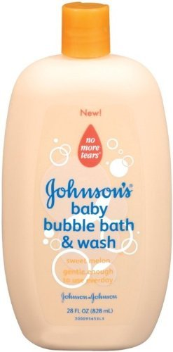 Johnson's Baby Bubble Bath & Wash, Sweet Melon, 28 Oz (Pack of 2)