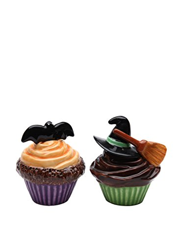 Halloween Cupcake Salt and Pepper Shakers