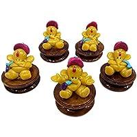 Lilone Gifts Table Top Stylish Mini Ganesha Handicrafts Exclusive (Set Of 5) (Yellow)