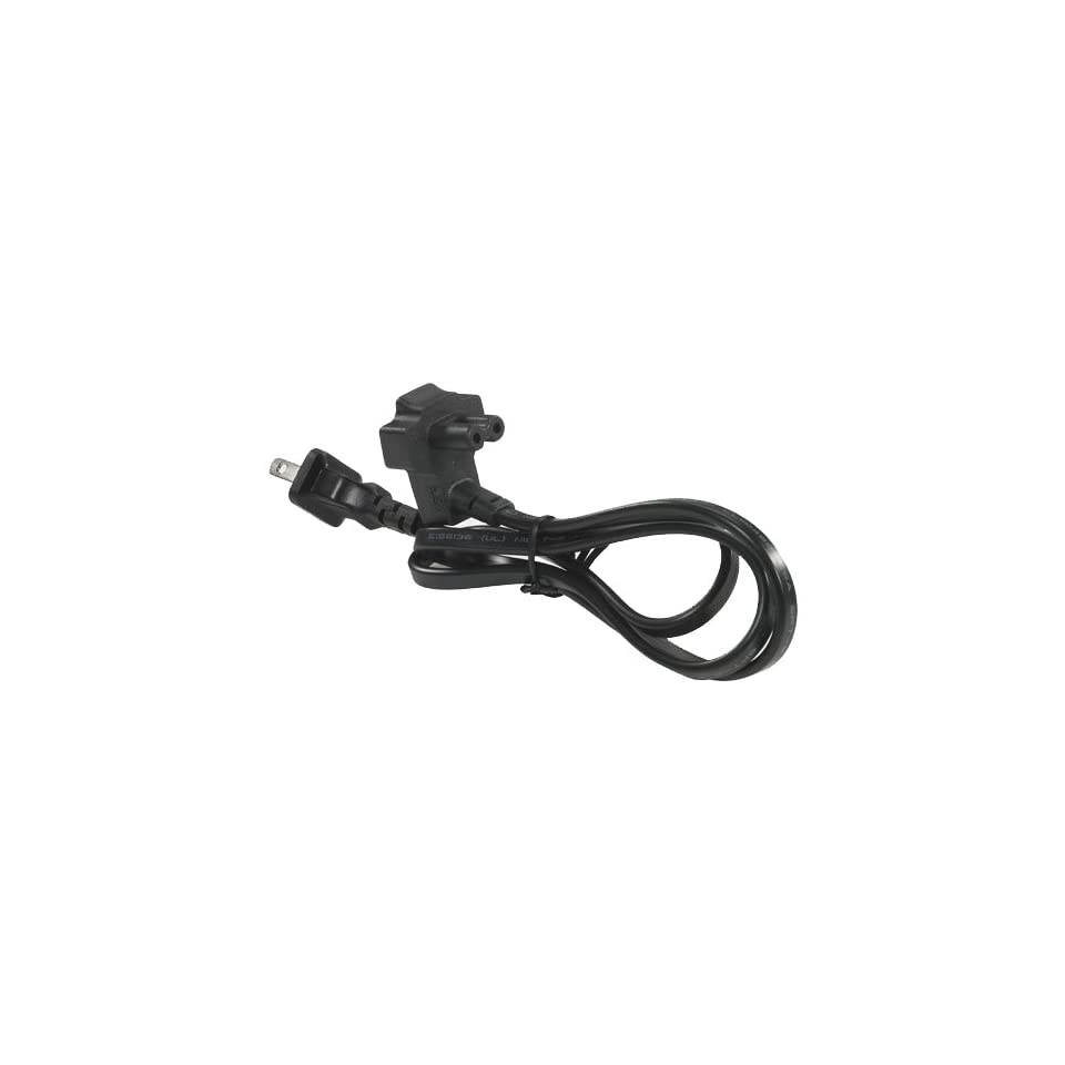 2 Wire 2 Prong Flat Power Cord  6 ft for Select Dell Latitude/ Studio / Inspiron Laptops / Studio D