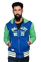 Nucode Men's Embroidered Hooded Neck Full Sleeves Sweatshirt