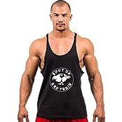 Dk Gym Vest Bodybuilding Stringer Tank Muscle Racer Back Black - ( Hulk )