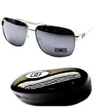 D5020-whd Dg Eyewear Aviator Sunglasses (1203 silver/white-mirrored)
