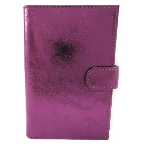 Leather Door Car Papers 'Frandi'Eggplant Metal.