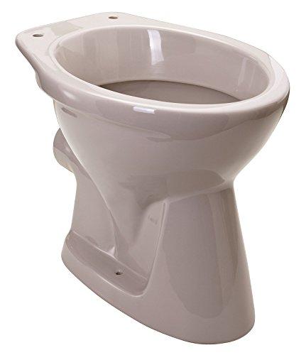 Stand-WC | Tiefspüler | Abgang waagerecht | Manhattan | Grau | Toilette | Stand-WC | Klo |Keramik | Gäste-WC | Bad | Badezimmer