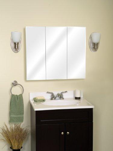 Zenith m30 beveled tri view medicine cabinet frameless for Zenith bathroom cabinets