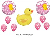 IT'S A GIRL RUBBER DUCKY BABY SHOWER Balloons Decorations Supplies Duck