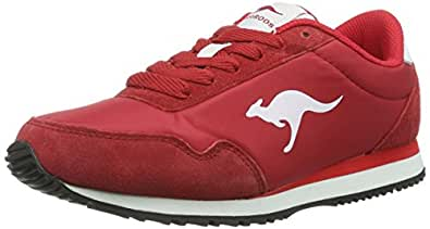 KangaROOS Baxter, Unisex-Erwachsene Sneakers, Rot (red 600), 39 EU (6 Erwachsene UK)