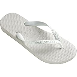 Womens Havaianas Brasil Top Flip Flop Sandals - White - 4/5