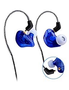 Sunorm 3.5mm In-Ear Earphone with Detachable Cable (Transparent Blue)