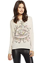 Chaser Clothing Women's Long Sleeve Drop Shoulder Dolman Tribal Eye Tee