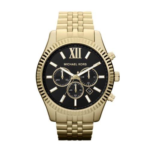 Michael Kors MK8286 - Orologio da polso uomo, acciaio inox, colore: oro