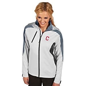 Cleveland Indians Ladies Discover Jacket (White) by Antigua