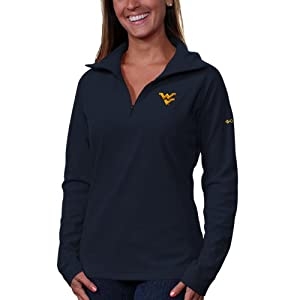 NCAA West Virginia Mountaineers Collegiate Glacial II Half Zip Fleece Jacket by Columbia
