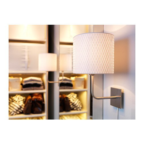 Ikea Patrull Klämma Barngrind ~ Ikea Alang Wall Lamp, Nickel Plated, White General General