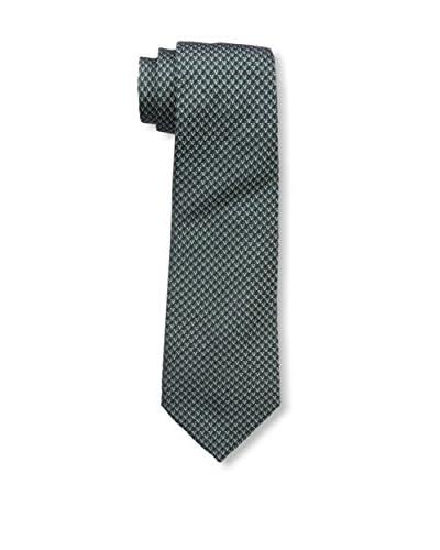 Valentino Men's Woven Tie, Green/Navy