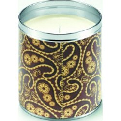 Aunt Sadie's Dark Brown Paisley Candle