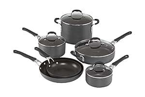 Calphalon 10 Piece Hard-Anodized Aluminum Nonstick Cookware