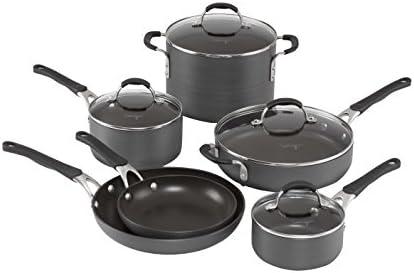 10-Pe. Calphalon Hard-Anodized Cookware Set