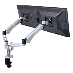 Cotytech Dual Desk Mount Spring Arm Quick Release with Clamp Base (DM-CDSA2-C)