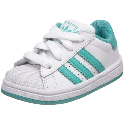 adidas Originals Footwear Infant/Toddler Superstar 2 Sneaker,White/Aero Green/Aero Green,7.5 M US Toddler