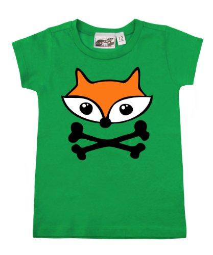 Fox Crossbones Green Baby & Toddler T-Shirt (4T) front-905847