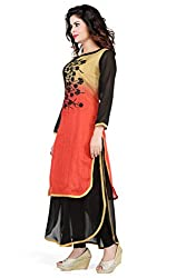 Feather Touch Women's Cotton Kurti (FT2907RT2_Brown Black_42)