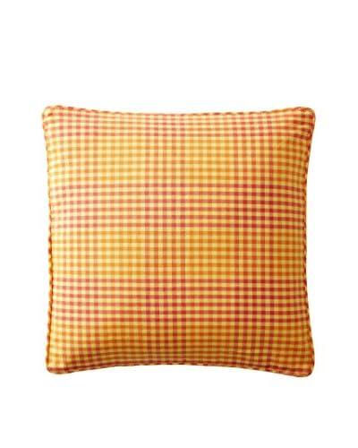 April Cornell Gingham Plaid Cushion, Orange