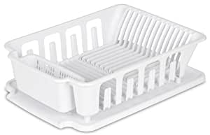 Countertop Dishwasher Buy Online India : Buy Sterilite 2-piece Large Sink Set Dish Rack Drainer, White Online ...