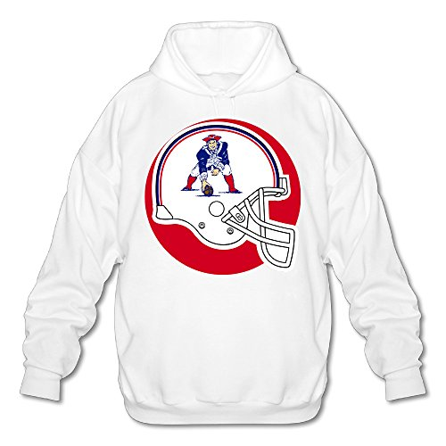 Hotgirl4 New England NE Patriot Men's Funny Long Sleeve Hoodie XL White (Power Rangers Flag compare prices)