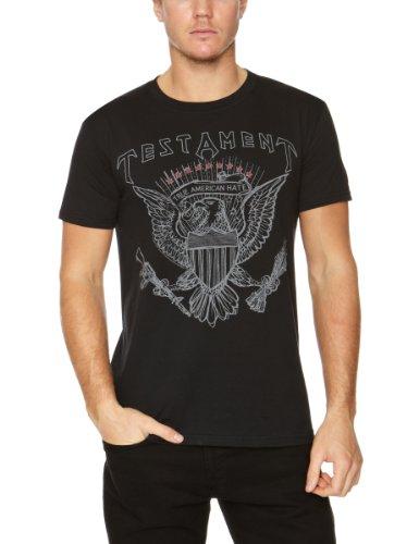Plastichead - Testament True American Hate, T-shirt da uomo, nero (Schwarz - Schwarz), Small